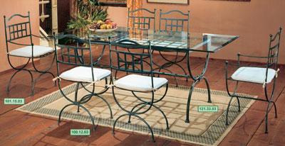 Ameublement terrasse salle a manger fer forg for Table et chaise de salle a manger en fer forge