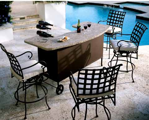 wrought, iron, garden, furniture,