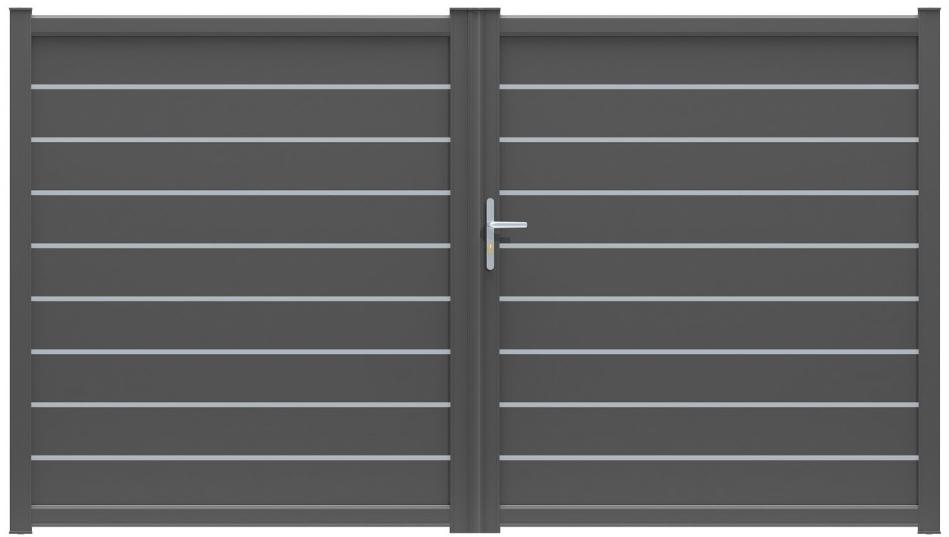 Portail battant aluminium portail aluminium sur mesure for Prix menuiserie alu sur mesure