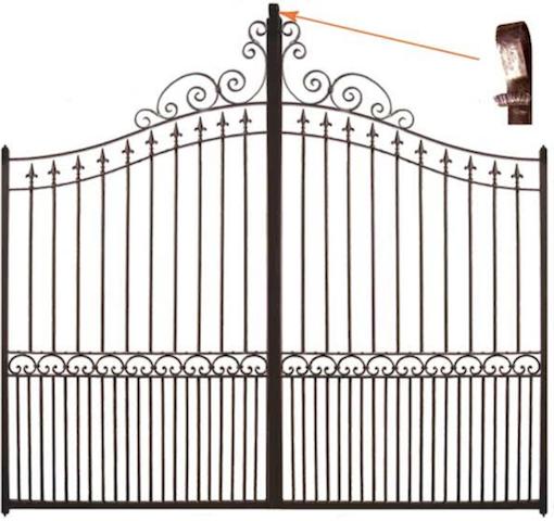 Fabricant portail portillon grille cl ture en fer for Portail fer forge leroy merlin
