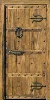 Porte portail en fer forg portillon portail - Photos de vieilles portes en bois ...