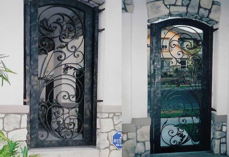 Porte D'entrée Pvc Blanc Porte D'entrée en Fer