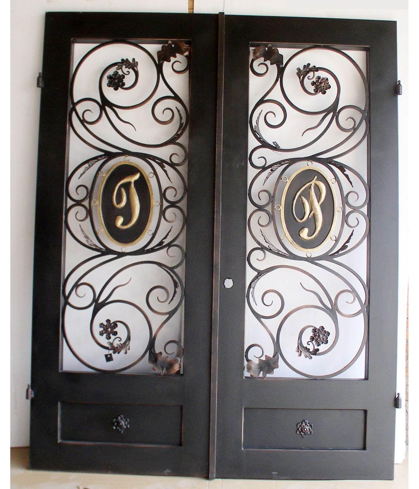 Porte dentre en fer forg porte en fer porte en for Petit portail fer forge