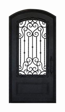 Porte d entr e en fer forg porte en fer porte en acier design - Porte fer forge exterieur ...