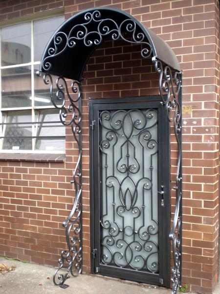 Porte dentre en fer forg porte en fer porte en - Porte bois fer forge ...