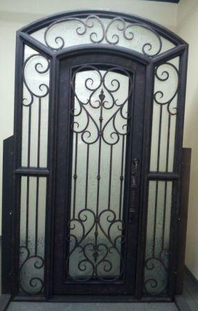 Porte d entr e en fer forg porte en fer porte en acier design - Model porte d entree fer forge ...
