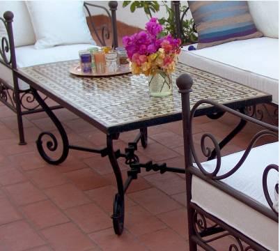 Table en zellige pas cher en promotion table de jardin fer forg et zellige - Table de jardin en zelige toulouse ...