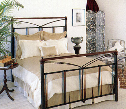 wrought iron bed metal
