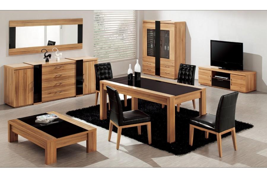 No title for Table salle manger bois noire