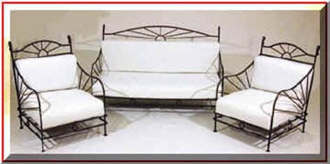 Fabricant canapé en fer forgé