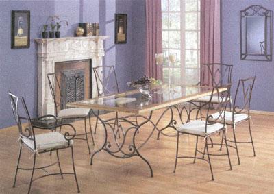 Exposition vente salle a manger fer forg for Table et chaise de salle a manger en fer forge
