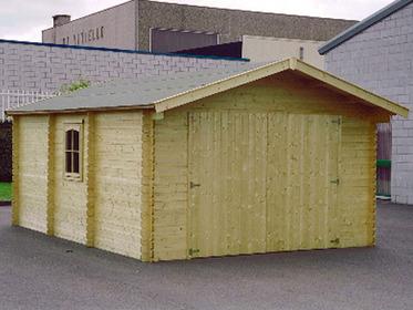 No title for Garage en kit bois