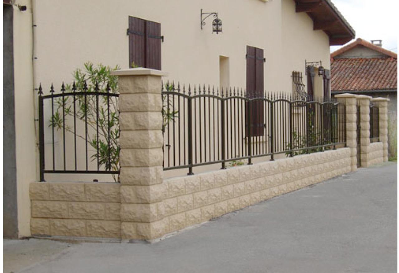 Grille cl ture en fer forg ext rieur jardin villa maison pas cher fabricant maroc - Porte en fer forge exterieur ...