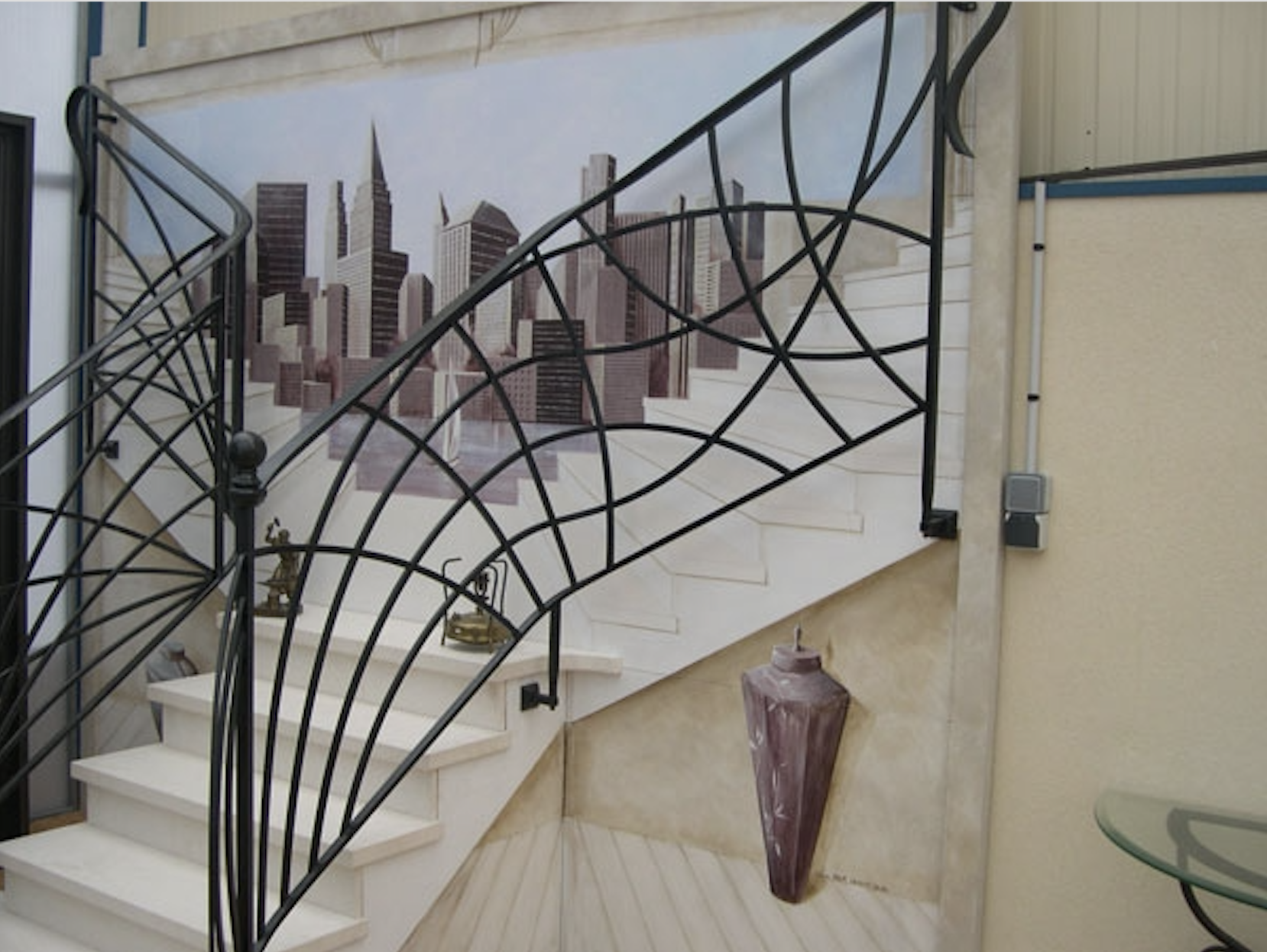 rampe escalier en fer forge ferronnerie d art ferronnerie d art. Black Bedroom Furniture Sets. Home Design Ideas