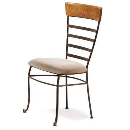 chaise en fer forg et bois great chaise de bar fer forge tabouret de bar fer forgac et bois. Black Bedroom Furniture Sets. Home Design Ideas