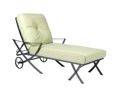 Transat chaise longue en fer forgé, Transat wrought iron chaise ...