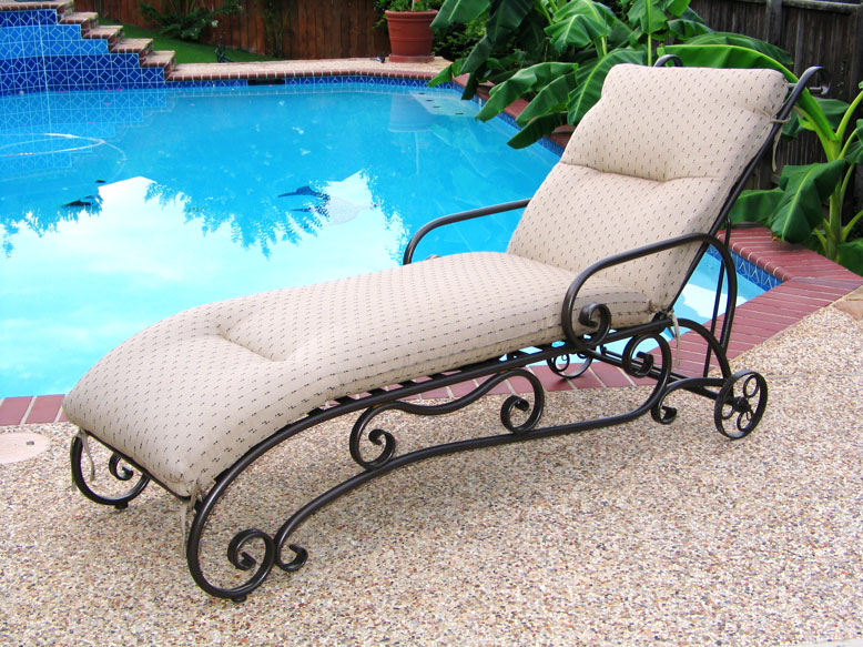 Transat, en, fer, forgé, chaise, longue, bain, de, soleil ...