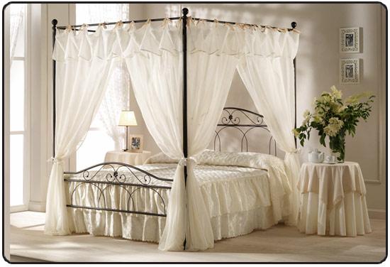 Lit en fer forg en promotion pas cher lit a baldaquin lit adultes - Fer forge chambre coucher ...