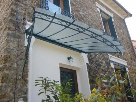 Marquise auvent en fer forg marquise wrought iron canopy marquise schmiedee - Marquise en fer forge ...