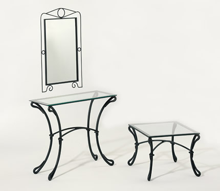 miroir commode en fer forg espejo conveniente en hierro forjado convenient mirror in wrought. Black Bedroom Furniture Sets. Home Design Ideas