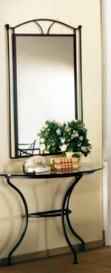 Miroir en fer forg pas cher en promotion for Miroir fer forge noir
