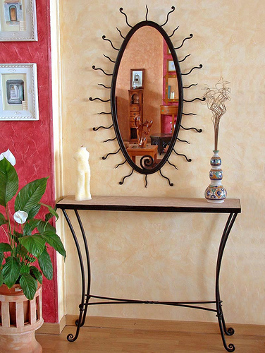 miroir en fer forg pas cher en promotion. Black Bedroom Furniture Sets. Home Design Ideas