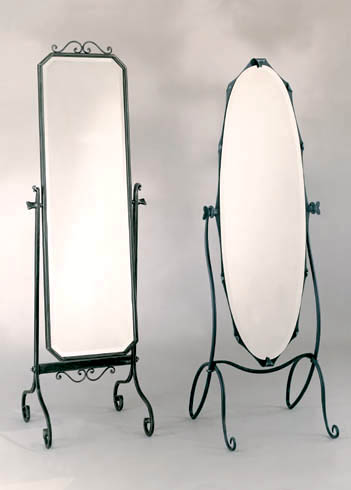 Miroir en fer forg pas cher en promotion for Miroir fer noir