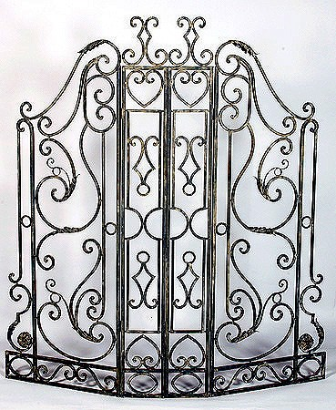 paravent en fer forg screen schmiedeeisen schermo ferro battuto screen wrought iron pantalla. Black Bedroom Furniture Sets. Home Design Ideas
