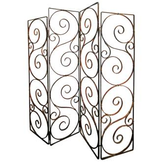 paravent en fer forg screen schmiedeeisen schermo ferro battuto screen wrought iron. Black Bedroom Furniture Sets. Home Design Ideas