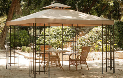 pergolas de jardin en fer forg. Black Bedroom Furniture Sets. Home Design Ideas