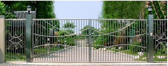 Porte portail en fer forg portillon portail m tallique acier for Porte de jardin metallique