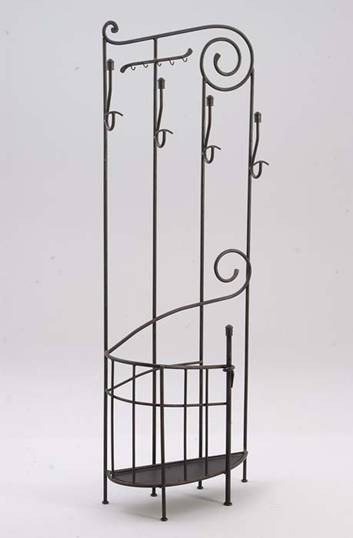 Porte manteaux en fer forg wrought iron coat rack in - Porte serviette en fer forge sur pied ...