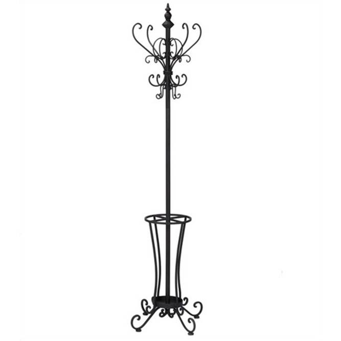 Wrought iron coat rack perchero de hierro forjado appendiabiti in ferro battuto schmiedeeisen - Porte manteau fer forge conforama ...