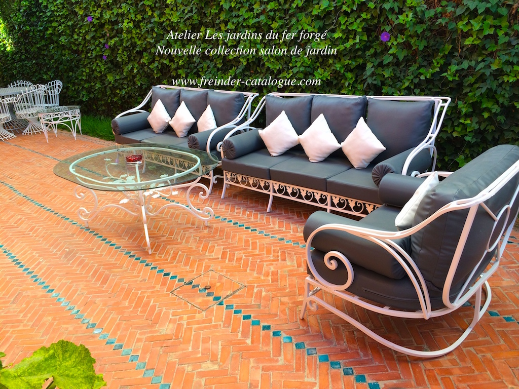Salon de jardin pas cher for Salon fer forge catalogue