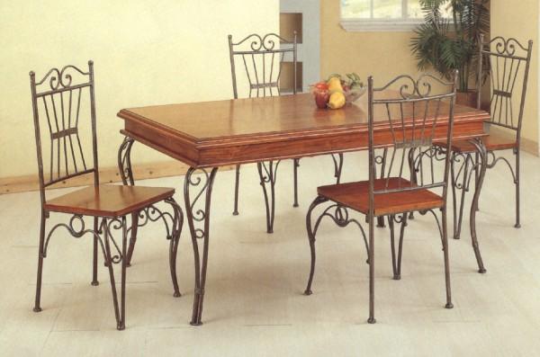 Fabricant salle a manger fer forg for Table salle a manger fer et bois