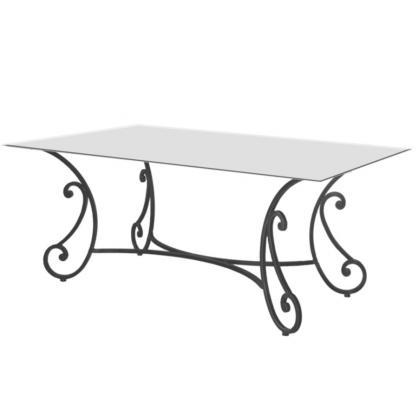 table basse en fer forg table intrieur dcoration. Black Bedroom Furniture Sets. Home Design Ideas