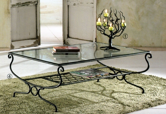 D co maison fer forge - Table basse de salon en verre et fer forge ...