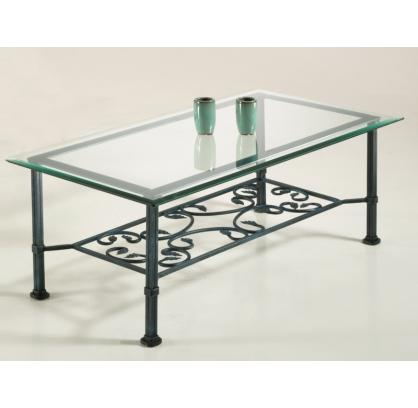 Table basse de salon fer forg avec plateau verre pictures for Salon fer forge catalogue