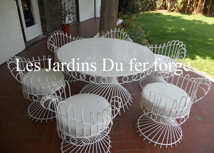 Beautiful Salon De Jardin Fer Forge Moderne Pictures - House Design ...