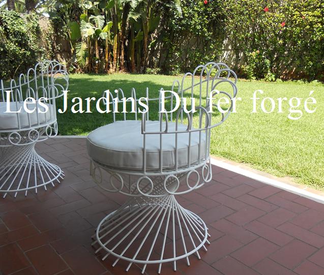 table basse design en fer forgé et bois massif, table jardin ...