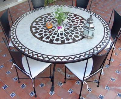 table zellige belgique panneaux de jardin occasion. Black Bedroom Furniture Sets. Home Design Ideas