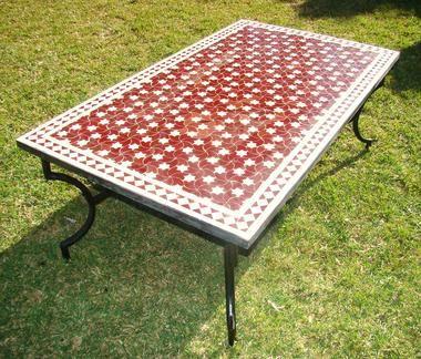 Table en zellige pas cher en promotion table de - Table de jardin en fer pas cher ...