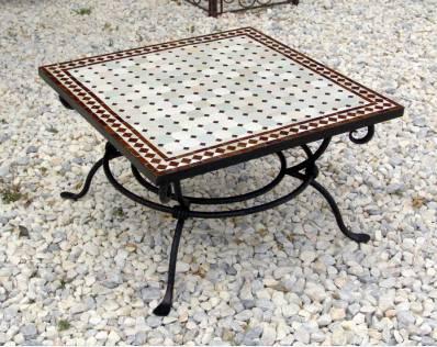 table en zellige pas cher en promotion table de jardin fer forg et zellige. Black Bedroom Furniture Sets. Home Design Ideas