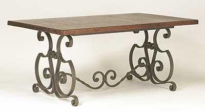 Salle manger en fer forg table fer forg mobilier de for Table salle manger bois fer forge