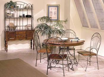 equipement jardin salle a manger fer forg. Black Bedroom Furniture Sets. Home Design Ideas