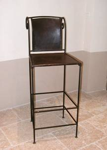 tabouret de bar en fer forg bar stool wrought iron. Black Bedroom Furniture Sets. Home Design Ideas