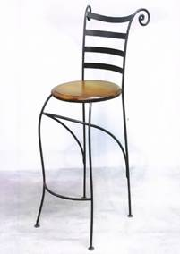 tabouret de bar en fer forg bar stool wrought iron barhocker aus schmiedeeisen sgabello da. Black Bedroom Furniture Sets. Home Design Ideas