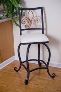 boutique tabouret en fer forg. Black Bedroom Furniture Sets. Home Design Ideas