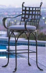 Tabouret de bar en fer forg bois inox promotion - Chaise de bar en bois pas cher ...