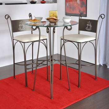 Tabouret de bar en fer forg bar stool wrought iron for Table bar fer forge